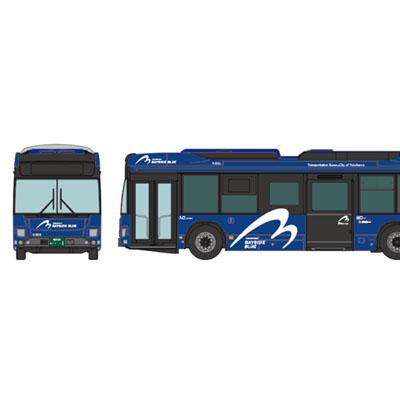 ザ バスコレクション 横浜市交通局 YOKOHAMA BAYSIDE BLUE連節バス